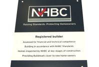 NHBC registered builder plaques