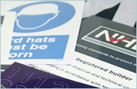 Registered builder site boards, stickers and plaques