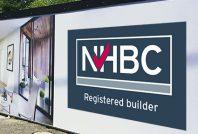 NHBC registered builder hoarding